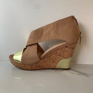 Cole Haan cork and leather wedges